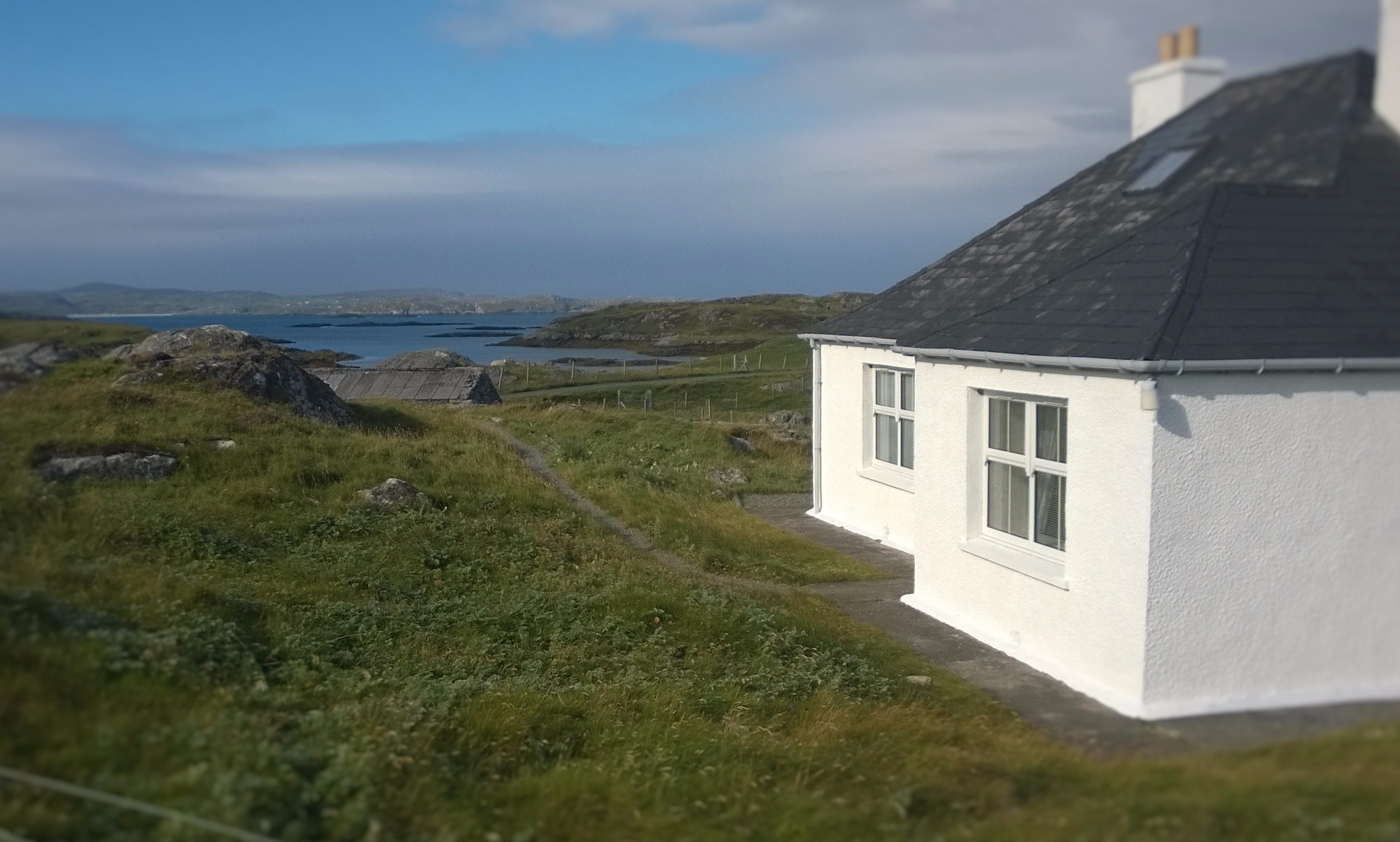 A picture of Atlantic View Cottage after being whitewashed.